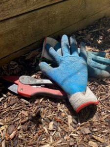 Work Gloves on Ground