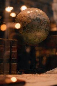 Globe & texts