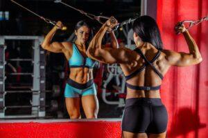 Body building woman
