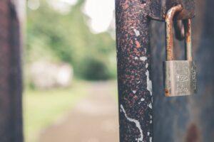 rusted gate lock
