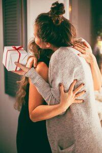 Gift and a hug